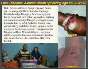diabetes kering 1 sembuh oleh milagros