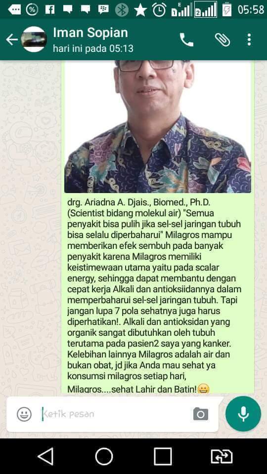 kesaksian dokter paramedis tentang milagros