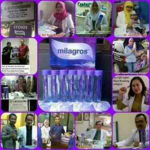 tenaga medis pakai air milagros