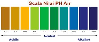 Skala nilai pH meter