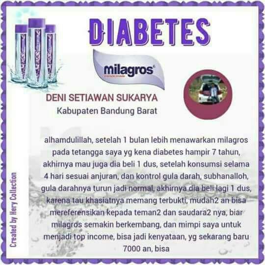 diabetes 2 sembuh oleh milagros