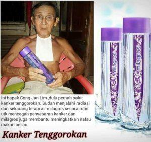 kanker tenggorokan sembuh oleh air milagros