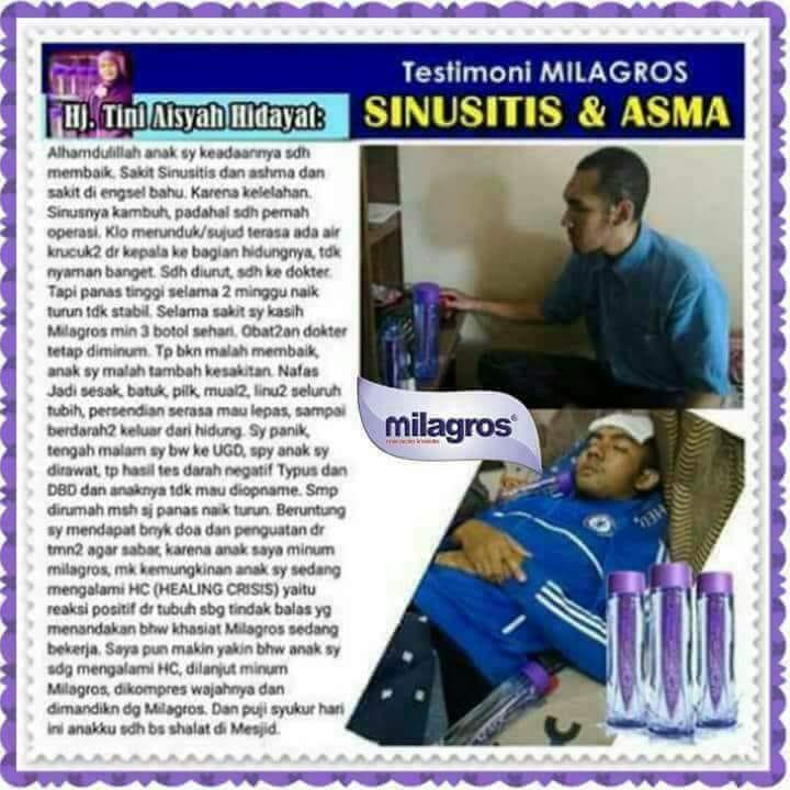 sinusitis dan asma sembuh oleh milagros